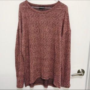 ZARA Rusty Pink Long Sleeve Sweater